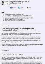 Beispielseite Nr 1 des Newsletters der Internetseite Legasthenietherapie-info.de