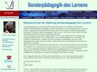 Homepage des sonderpädagogischen Instituts der Universität Flensburg. Geleitet von Prof. Jürgen Walter