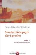Titelbild des Buches Sonderpädagogik der Sprache